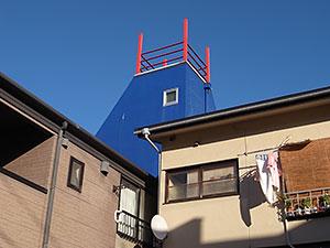 屋上の手摺