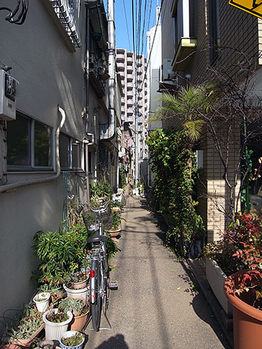 三田5丁目の路地