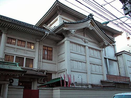 旧歌舞伎座木挽町通り側
