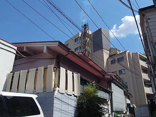 若葉湯の煙突(新宿区若葉)