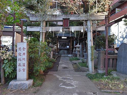 金刀比羅宮と慈愛地蔵尊(日本橋中州)