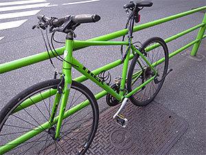 保護色?自転車