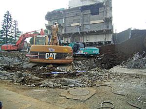 五反田図書館解体