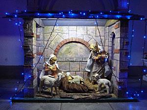 サレジオ教会のクリスマスディスプレイ