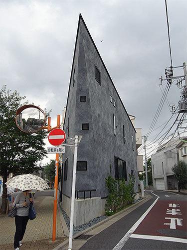 鋭角の家(世田谷)