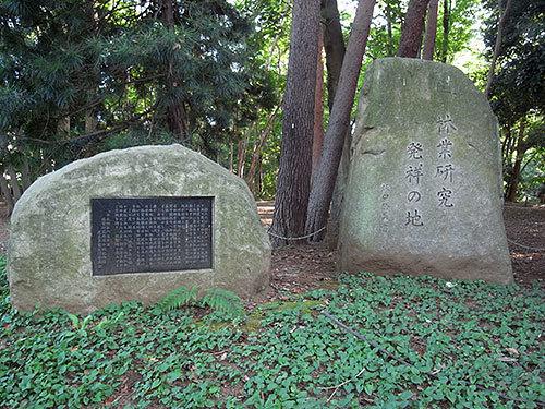林業研究発祥の地の碑