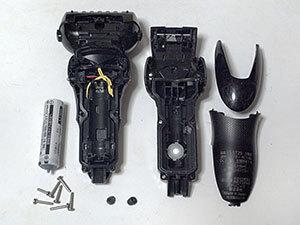 電気シェーバーの電池交換