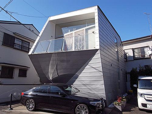 斜めベランダの家(大岡山)