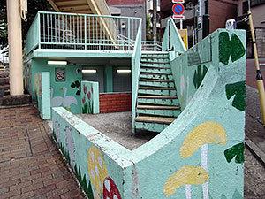 世田谷区立公衆便所入り口(代田)